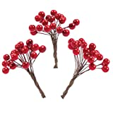 Baker Ross Künstliche rote Beeren (100 Stück) Perfekt für Weihnachten Jungen und Mädchen Kunst Basteln und Dekorieren für Kinder
