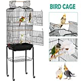YAHEETECH 64-inch Open Play Top Rolling Bird Cage for Small Parrots...