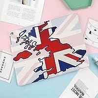 iPad 9.7 ケース iPad 2018 / 2017 / Air/Air 2 iPad 防水ケース 超軽量 落下防止 高耐久ケース (モデル番号A1822、A1823、A1893、A1966) 色あせたイギリスの国旗と国の地図構成国シンボル