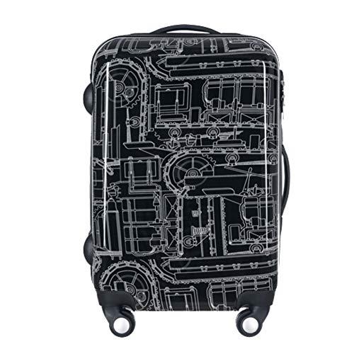 GKBMSP Carretilla de Maletas de Aluminio Negro Ultraligero para Maletas de Mano, chasis de Aluminio...