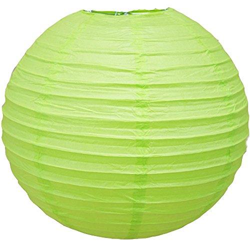 Matissa 4', 6', 8', 10', 12', 14', 16' lámpara de papel redonda para boda, fiesta de cumpleaños, Verde primavera, 4'(10CM)