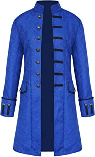 Medieval Steampunk Vintage Tailcoat Jacket Coat Formal Halloween Gothic Victorian Frock Coat Costume
