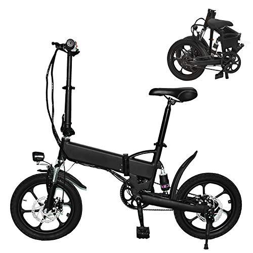 Plegable Eléctrico De La Bicicleta, Moto Interurbana De 16 Pulgadas Ajustable Velocidad...