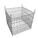 MTB Garden Wire Compost Bin 36x36x30 inches, Black, Garden Bed Fencing