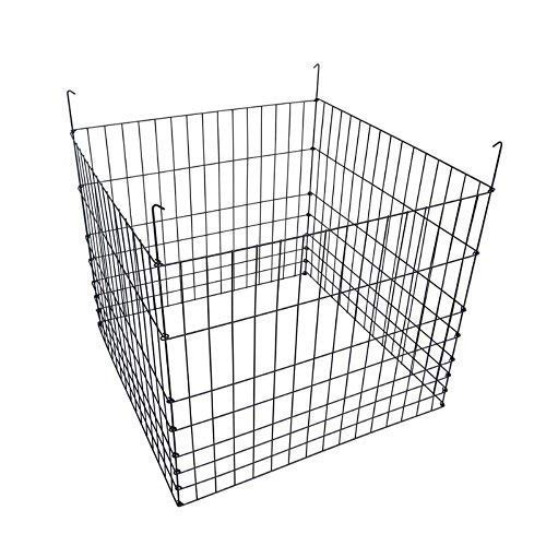 Best Price! MTB Garden Wire Compost Bin 36x36x30 inches, Black, Garden Bed Fencing