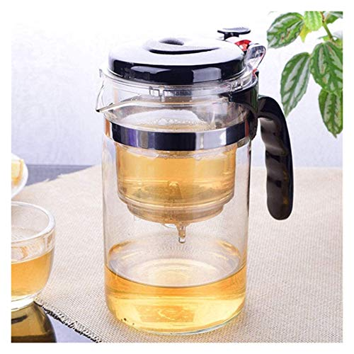 YONGYONGCHONG Juego de té Tetera con Tetera de Vidrio Resistente al Calor del infusor con colador de café Tetera de tettle Tetera China para el té Tetera