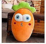 Los regalos de San Valentín son de gran importanci Kawaii 3D Simulación Zanahoria Peluche Toy Toy Soft Cartoon Carrot Relleno Muñeca Sofá Cama Decoración Almohada Cojín Niños Cumpleaños regalos 30 cm