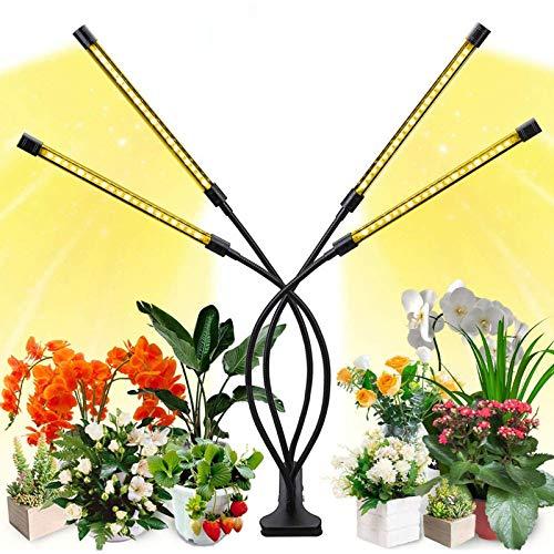 LED Pflanzenlampe Vollspektrum für Zimmerpflanzen, 40W 160 LEDs Flexibles Grow Light Pflanzenlicht mit Timing Funktion, 4 Modus, 5 Helligkeitsstufen, 360°Einstellbar USB Anschluss SOLMORE