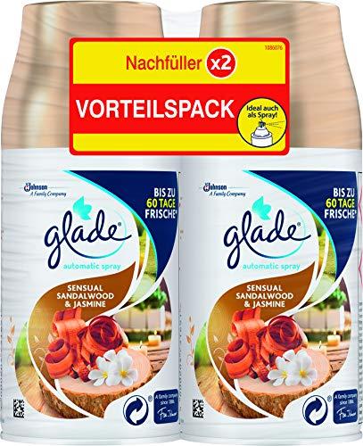 Glade (Brise) Automatic Spray Nachfüller für Lufterfrischer Gerät, Doppelpack, Sandalwood & Jasmine (2 x 269 ml), 538 ml