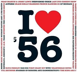 1956 Birthday Gifts - I Love 1956 Greetings Card , Chart Hits Music CD , 20 Original Songs