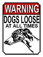 警告犬は常に緩んでいます 金属板ブリキ看板警告サイン注意サイン表示パネル情報サイン金属安全サイン
