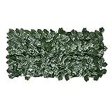 Yongirl - Rotolo di siepe di edera artificiale, con foglie di edera artificiale e foglie di vite B