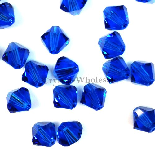 211 blue Swarovski crystal 5328 XILION Loose Bicone Beads 3mm Light Sapphire