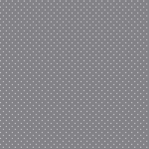 babrause® Baumwollstoff Pünktchen Grau Webware Meterware Popeline OEKOTEX 150cm breit - Ab 0,5 Meter