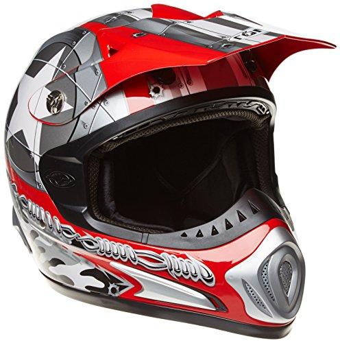 Römer Casque Moto Cross/MX Starcross, Rouge/Argenté, XXL