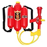 Brigamo Feuerwehr Lösch Wasserpistole, Wasserspritzpistole mit 1.5 Liter Tank Spritze