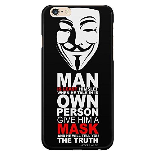 Funda carcasa Anonymous Frase Oscar Wilde Black Hacker Informática Mr Robot F Society compatible con iPhone 4/4S/5/5S/5SE/5C/6/6S/6plus/6s plus Samsung S3/S3neo/S4/S4mini/S5/S5mini/S6/Note