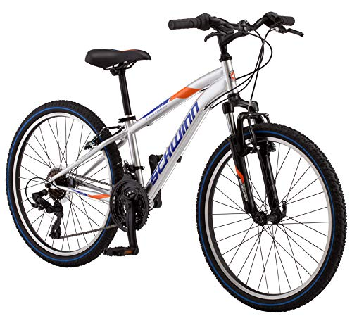 Schwinn High Timber Youth/Adult Mountain Bike, Steel Frame, 24-Inch...