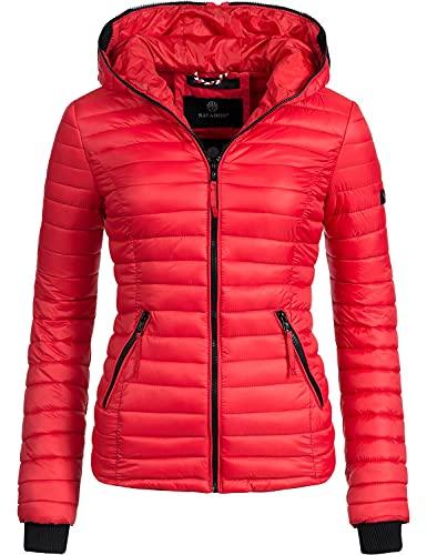 Navahoo damska pikowana kurtka przejściowa Kimuk XS-XXL, czerwony, XS