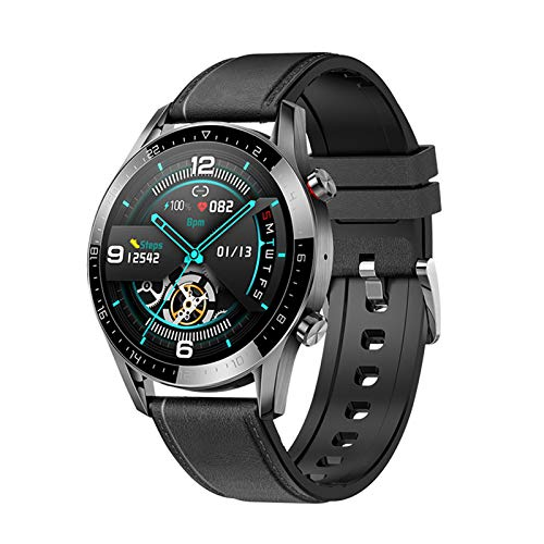 QIAI Smart Watch Monitoreo De Tarifas Cardíacas SmartWatch Fitness Tracker IP68 Impermeable IP Natación SmartWatch Fitness Tracker Fitness Watch(Color:B)