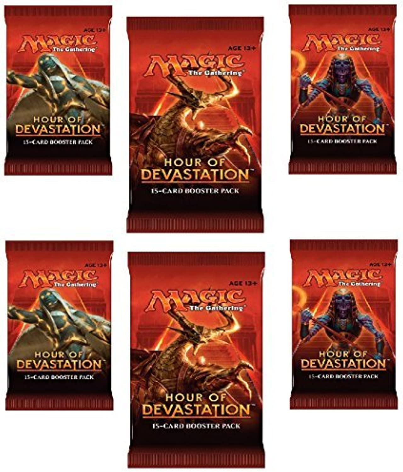 Magic the Gathering  Hour of Devastation - 6 Booster Packs