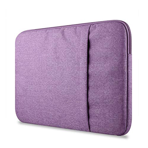 Greatangle-UK For Macbook air pro11/12/13/15 inch Mac Case Laptop Sleeves Case Bag Cover Suitable with Pocket Compatible Elegant Purple 11 inch
