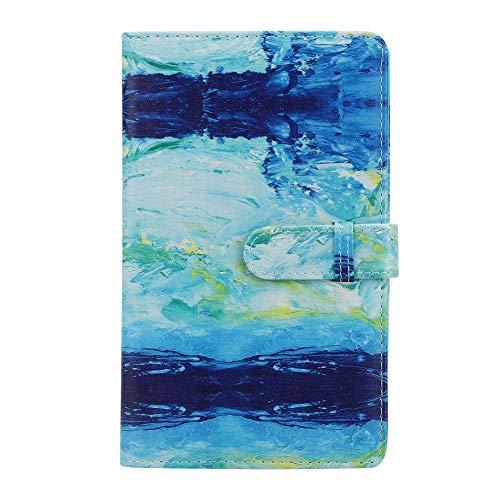 Yctze Fotoalbum, Universal PU Sofortbildkamera Fotoalbum Kartenetui Bankkarten-Aufbewahrungsbuch 3in 96 Pockets Album für Mini11/8/9/7s/25/70/90 Sofortbildkamera-Foto(Blaue Farbe)