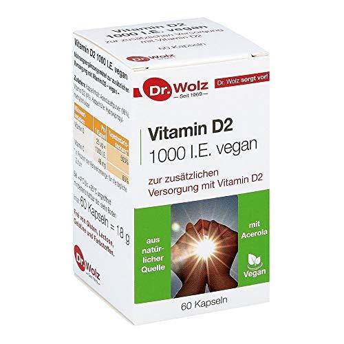 Vitamin D2 1000 I.E. vegan von Dr. Wolz, 60 Kapseln