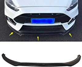 MotorFansClub 3pcs Front Bumper Lip Splitter for Ford Focus 2016 2017 2018 S/SE/SEL/Titanium Base Model Trim Protection Splitter Spoiler, Black