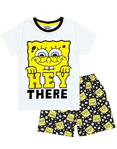 Vanilla Underground Spongebob Squarepants Boy's Short Cotton Pyjamas Combo