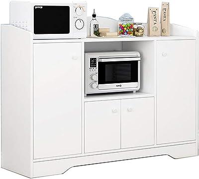 サイドボードビュッフェ内閣コンソールテーブルルームサーバ玄関バーキャビネットストレージダイニング (Color : White, Size : 110x30x82.5cm)