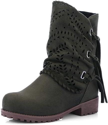 TWGDH Décontracté Décontracté plat chaussons femmes simili cuir velours doubleure en peluche de l'extérieur chaussures de neige  bon shopping