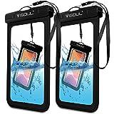 iSOUL wasserdichte Handyhülle Unterwasser Wasserfeste (2er Pack stück) Handytasche Wasserdicht für iPhone 11 Pro Max XS XR X 6 7 8 Samsung S10 S9 S8 Huawei P30 P20 Xiaomi Und Mehr bis zu 6,5 Zoll