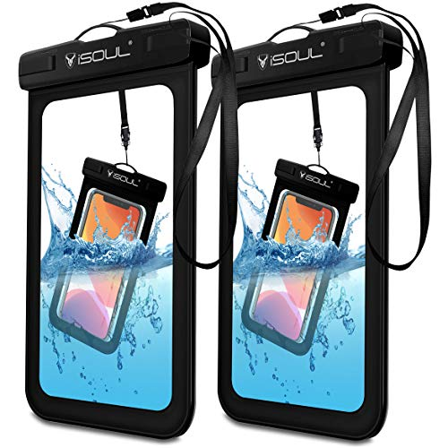 iSOUL Funda Impermeable Móvil Universal [Paquete de 2], IPX8 Bolsa Impermeable Móvil Funda para iPhone 11 Pro XS XR X 6 7 8 Samsung S10 S9 S8 Huawei P30 P20 Xiaomi y Otros Móviles hasta 6.1 Pulgadas