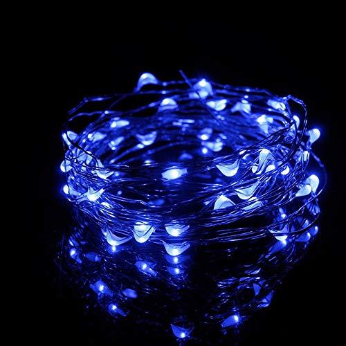 5 meter 50 lichtjes USB koperen snoer decoratieve lichten LED creatieve party decoratie lichtketting blauw