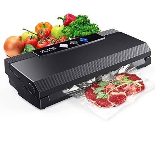 KOIOS Vacuum Sealer Machine, 80Kpa Automatic Food Sealer for Food Savers w/Starter Kit, Dry & Moist...