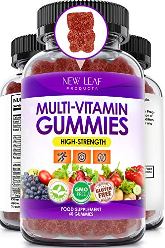 Multivitamin Gummies - Vegetarian - High Strength Multi Vitamins for Adults - 14 Essential Vitamins & Minerals Supplement - GMO-Free, Gluten-Free Vitamins C A D E B & Biotin + Zinc Iodine