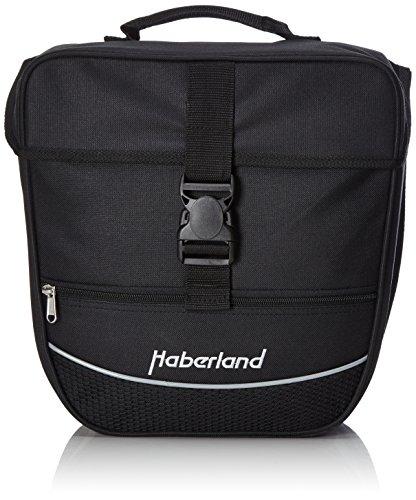 Haberland Unisex– Erwachsene Fahrradtasche Einzeltasche Einsteiger-Serie, Schwarz, 32 x 34 x 16 cm, 12.5 Liter