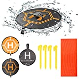 RCstyle Drones Landing Pads Universal Waterproof 31.5'' Fast-fold Double Sided Quadcopter Landing pad for RC Drones, PVB Drones, DJI Mavic Air 2/Mavic Mini 2/Spark/Phantom 2/3/4 Pro Drone Accessories