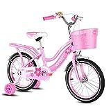 FUFU Bicicletas For Niños con Desmontable De Ruedas De Entrenamiento, 2-5 Año Viejo Chico Y Chica De Bicicletas 12/14 De Bicicletas De Montaña Pulgadas (Color : Pink, Size : 12in)
