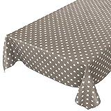 Anro - Mantel de hule lavable, 95% PVC, 5% poliéster., Estrellas marrón., 100 x 140cm Schnittkante
