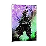 VGFD Póster de anime del cazador del demonio 4k HD HD de 40 x 60 cm