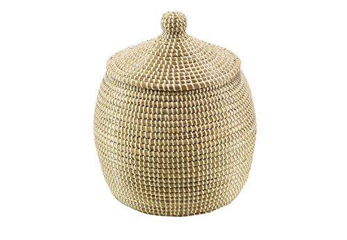 Kobolo Aufbewahrungskorb Schlangenkorb aus getrocknetem Seegras - 34x32 cm