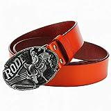 WDYDDW Cintura Uomo Cool Cintura Uomo di Cowboy Rodeo Bull Rider Cowskin Cintura di Pelle Jeans Cowboy Cinghia Cinghia Corrida