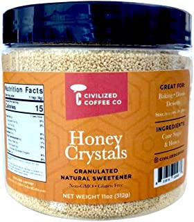 Sponsored Ad - Civilized Coffee Granulated Honey Crystals Natural Sweetener, Non-GMO and Gluten-Free (11oz)