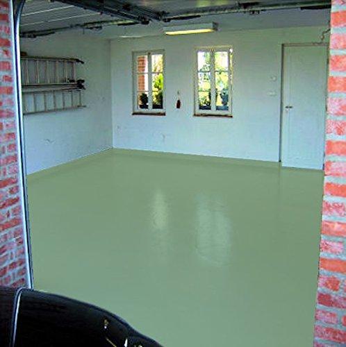 20kg RAL 6021 Lindgrün grün Garagenfarbe seidenmatt Parkplatzfarbe Bodenfarbe Weichmacherbeständig Asphaltfarbe