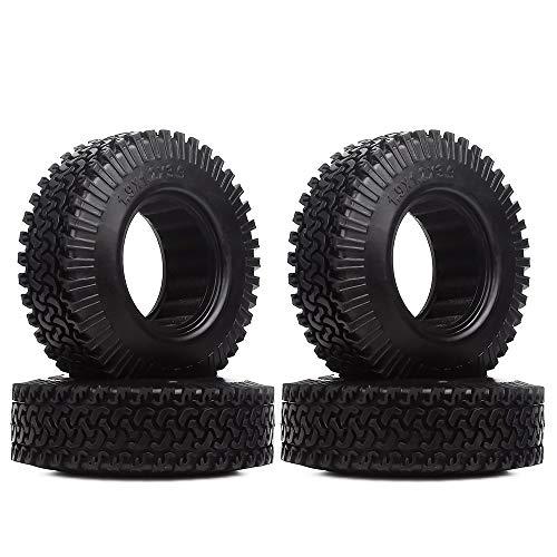 INJORA RC Neumáticos 4PCS 1,9 Neumáticos para 1:10 RC Rock Crawler Axial SCX10 D90 TF2 Tamiya CC01