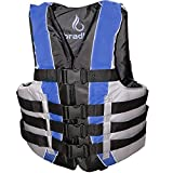 Bradley Fully Enclosed Deluxe 4-Buckle Adult Life Jacket Vest (Blue)