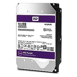 top 10 rated hard drives WD Purple Surveillance Hard Drive 10TB – 5400 RPM, SATA Class, 6 Gbit / s, 256 MB Cache, 3.5 – WD100PURZ