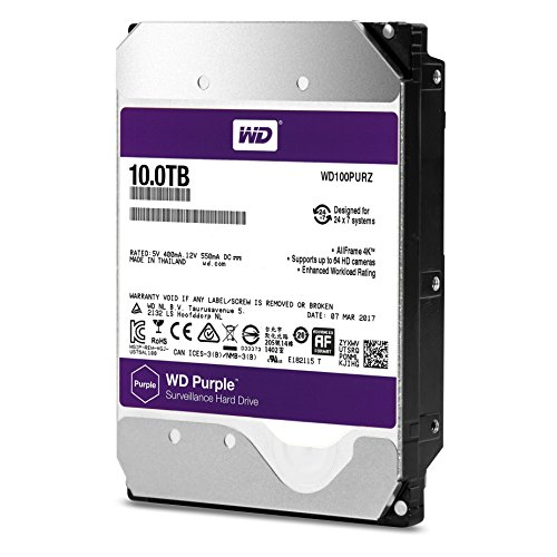 "Western Digital WD100PURZ Disque Dur Interne 3,5"" 10 to SATA III"
